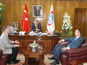 MELİKGAZİ/TELEKOM MÜDÜRÜ ZİYARET&#8207