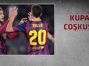 Barcelona kupa maçında uçtu