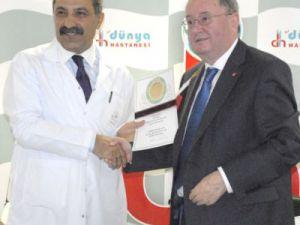 Alman Hastaneleri Enstitüsü, Kayseri&#39deki Dünya Hastanesi akredite etti.