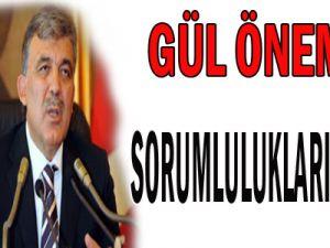Cumhurbaşkanı Gül: &#39&#39Önemli sorumluluklarımız var&#39&#39