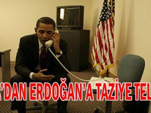 OBAMA&#39DAN ERDOĞAN&#39A TAZİYE TELEFONU