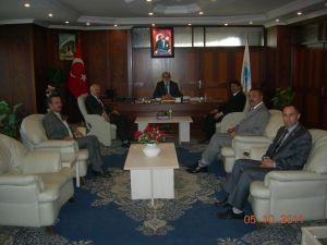 Türkiye Kamu- Sen İl Başkanlığı Kayseri İl Müftüsü Ali Maraşlıgil'e bir nezaket ziyareti