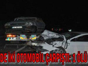 Kayseri&#39de İki Otomobil Çarpıştı: 1 Ölü, 3 Yaralı...