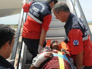 Somalili yaralılar tedavi için Ankara&#39da