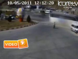 Feci kaza böyle görüntülendi - Video