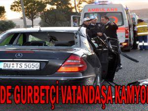 KAYSERİ'DE GURBETÇİ VATANDAŞA KAMYON ÇARPTI