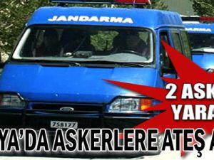 Antalya&#39da Askerlere Ateş Açıldı