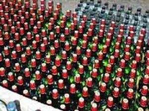8 bin şişe sahte içki ele geçirildi