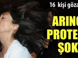 Bülent Arınç&#39ı protesto eden öğrenciler gözaltına alındı
