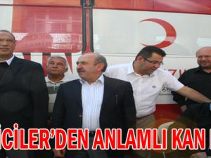 GALERİCİLER&#39DEN ANLAMLI KAN BAĞIŞI
