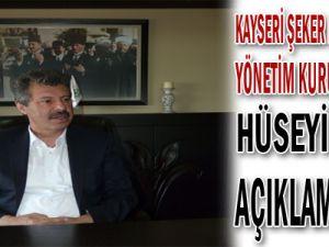 Kayseri Şeker Fabrikası A.Ş. Yönetim Kurulu Başkanı Hüseyin Akay Açıklama Yaptı