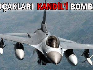 Türk uçakları Kandil&#39i bombaladı