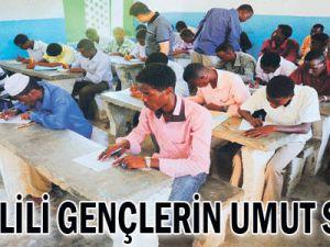 Somalili gençlerin umut sınavı