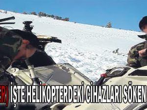 [Özel Haber] İşte helikopterdeki cihazları söken subaylar