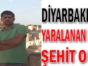 Diyarbakır&#39da yaralanan polis şehit oldu