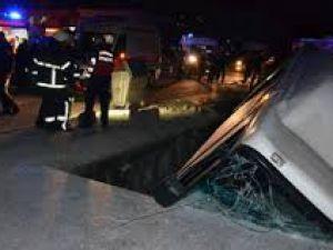 Kayseri'de Sabah Saatlerinde Otomobil Kanala Uçtu: 1 Yaralı