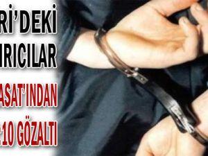 Kayseri&#39deki Dolandırıcılar Polisin &#39hasat&#39ından Kaçamadı: 10 Gözaltı