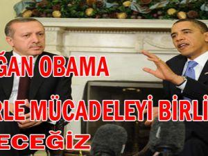 Erdoğan Obama Terörle Birlikte Mücadele Edeceğiz