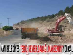 Kayseri Kocasinan Belediyesi Ebiç,Kemer,Dadağı,MahzeminYol Çalışması Yapıyor