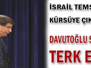 İsrail Temsilcisi Kürsüye Çıkınca Davutoğlu Salonu Terk Etti
