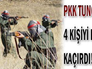 PKK Tunceli&#39de 4 Kişiyi Kaçırdı