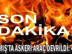 Sarıkamış&#39ta askeri araç devrildi: 4 yaralı