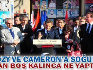 Sarkozy ve Cameron&#39a soğuk duş: Meydan Boş Klınca Ne Yaptılar?
