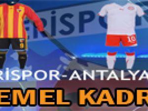 Kayserispor-Antalyaspor Muhtemel Kadroları