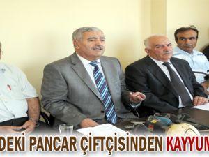 KAYSERİ&#39DEKİ PANCAR ÇİFTÇİSİNDEN KAYYUMA TEPKİ