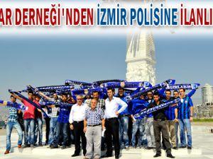 KAYSERİ GRUP 38 TARAFTARLAR DERNEĞİ&#39NDEN İZMİR POLİSİNE İLANLI TEŞEKKÜR