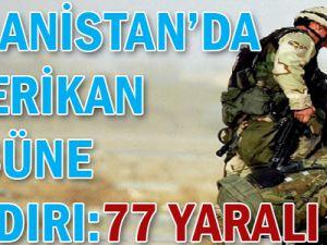 Afganistan&#39da ABD Üssüne Saldırı: 77 yaralı!