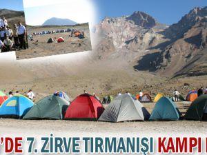 KAYSERİ&#39DE 7. ERCİYES İZCİ ZİRVE TIRMANIŞI KAMPI BAŞLADI