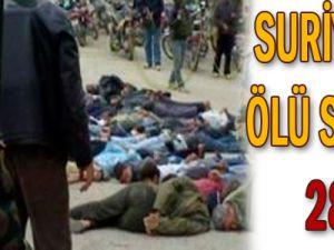Suriye&#39de ölü sayısı 28
