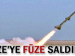 Gazze&#39ye füze saldırısı!