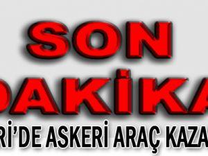 Kayseri&#39de askeri araç kaza yaptı: 8 yaralı