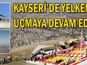 Kayseri&#39de yelkenler uçmaya devam ediyor