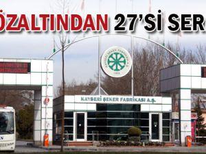 Kayseri Şeker&#39de İkinci Dalga Operasyonda Gözaltına Alınanlardan 27&#39si Serbest!