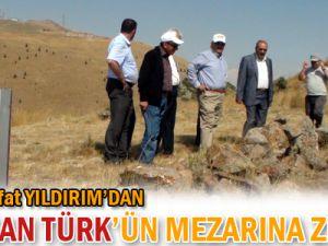 İlk uçan Türk&#39ün mezarına ziyaret -KAYSERİ-