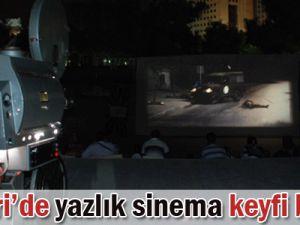 KAYSERİ&#39DE YAZLIK SİNEMA KEYFİ BAŞLADI