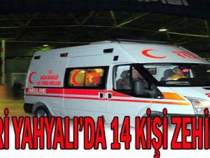 Kayseri Yahyalı&#39da İftarda Zehirlenen 14 Kişi Hastaneye Kaldırıldı