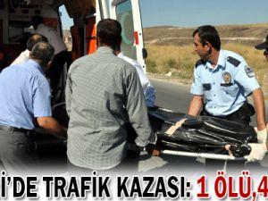 KAYSERİ&#39DE TRAFİK KAZASI: 1 ölü, 4 yaralı