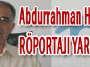 Kimse Yok Mu ? Derneği Başkanı Abdurrahman HASKARAMAN Röportajı YARIN!