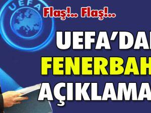 SON DAKİKA UEFA&#39dan Fenerbahçe açıklaması