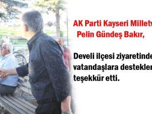 Milletvekili Pelin Gündeş Bakır Vatandaşa  Kartvizitini  Dağıttı