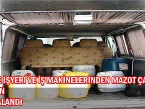 Kayseri&#39de Mazot Hırsızları Yakalandı