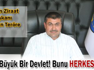 Kocasinan Ziraat Odası Başkanı Güneş&#39ten Teröre TEPKİ!