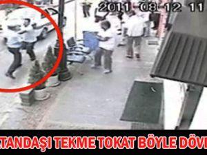 POLİS VATANDAŞI BÖYLE DÖVDÜ