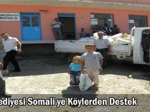 Somali ye Köylerden destek
