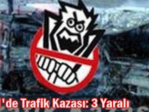Kayseri&#39de Trafik Kazası 3 Yaralı