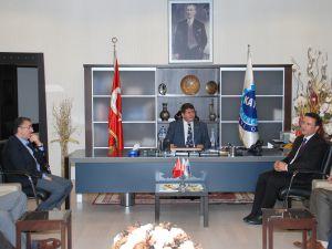 Melikşah Üniversitesi Rektörü Mat:KAYSO Başkanı Boydak'ı  ziyaret etti